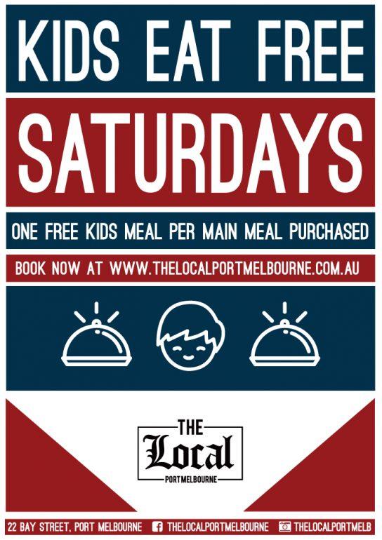 Kids Eat Free Saturdays